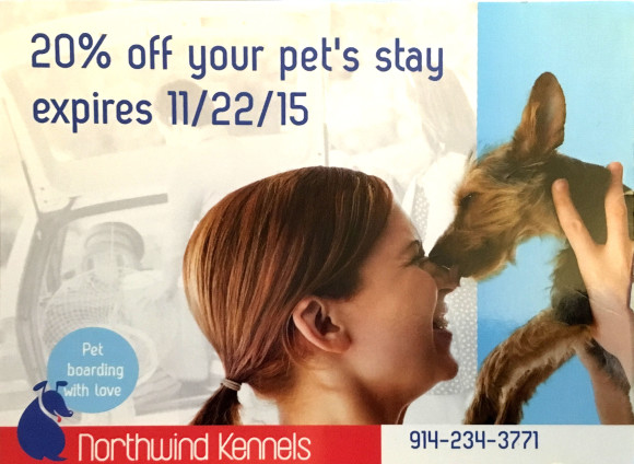 Save 20% off your pets Staycation